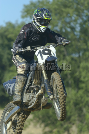 high jump with motorbike in the