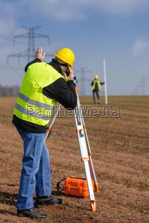 geodesist measure land speak transmitter
