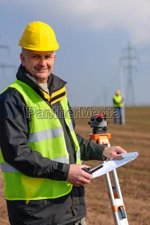 geodesist, measure, land, hold, construction, plans - 6777737