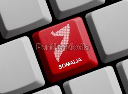 somalia outline on keyboard
