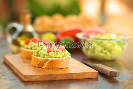 baguette with avocado