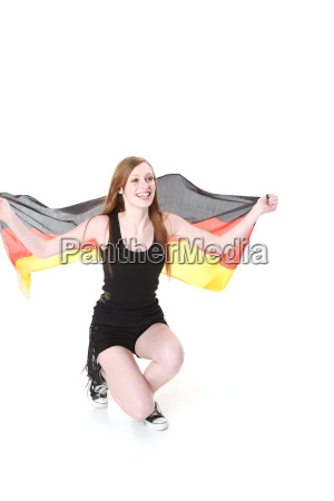 flag germany german federal republic supporter