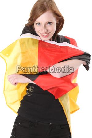 woman flag germany german federal republic