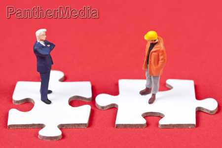 management and labor at puzzle