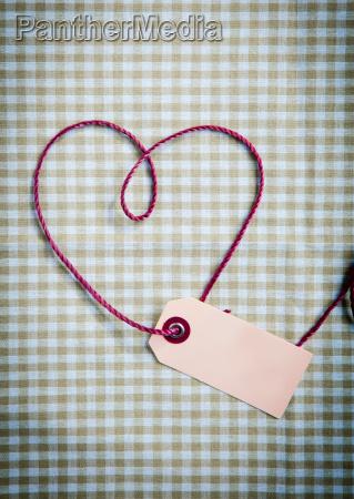 purple yarn drawn heart