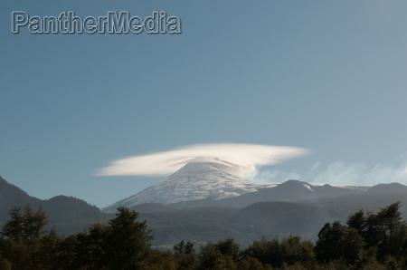 double cones of the villarica volcano