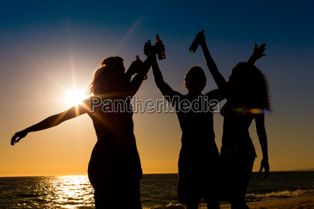 people to party at beach with
