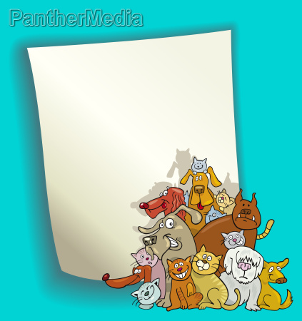 cartoon design with cats and dogs