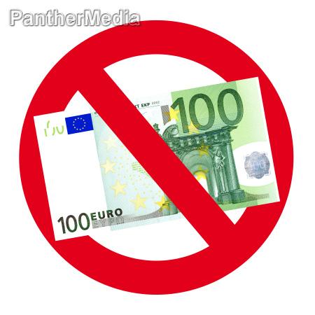 we do not accept 100 euro