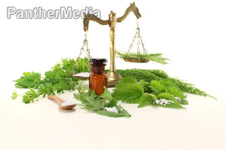 homeopathy with apothekerwaage