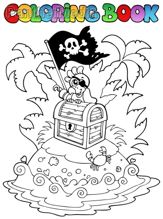 coloring book with pirate topic 3