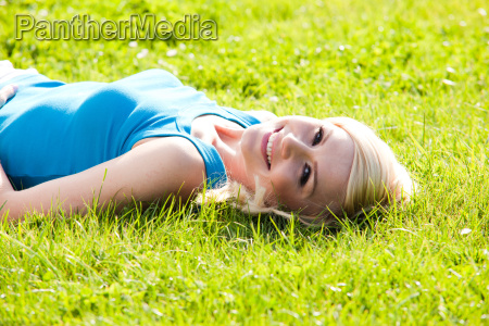 smiling girl enjoying the sunshine