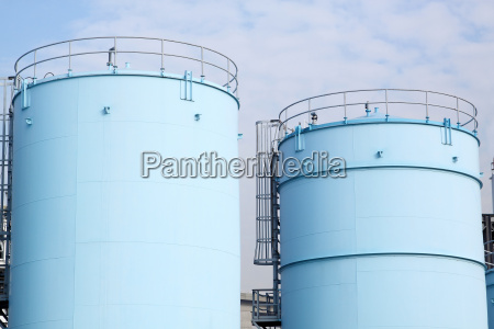 large white tanks for petrol and
