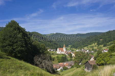 townscape with holy cross church reichental