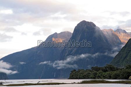 sun rise high mountain glacier at
