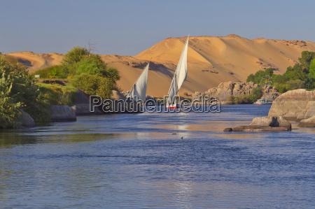 sailing on the nile near aswan