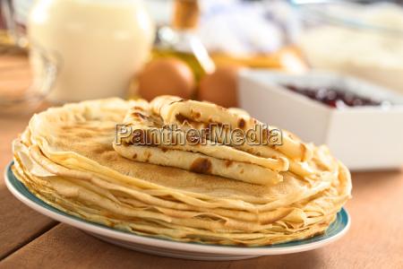 fresh homemade crepes