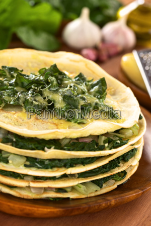 savory crepes with chard