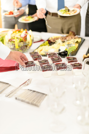 catering mini dessert at business buffet