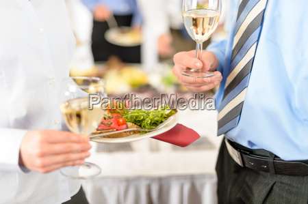 business refreshments close up appetizer plate
