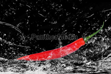 red chilli in water