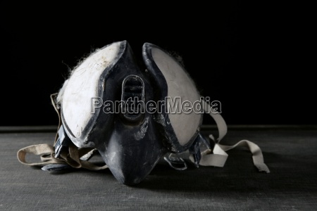 construction protection equipment mask over black