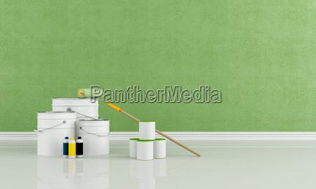 freshly painted green room