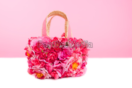flowers spring bag in pink and