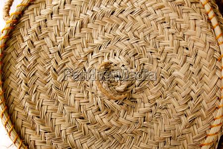 esparto round handcraft basketry circle spain
