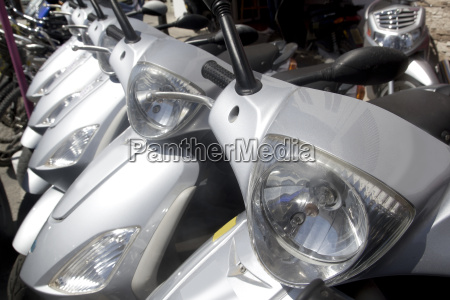 bikes motorbikes motorcycles rows in a