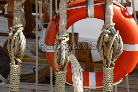sailboat wooden marine rigs and ropes