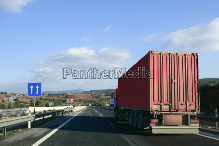 heavy transportation truck lorry on a