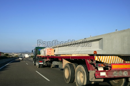 heavy transportation truck lorry carrying a