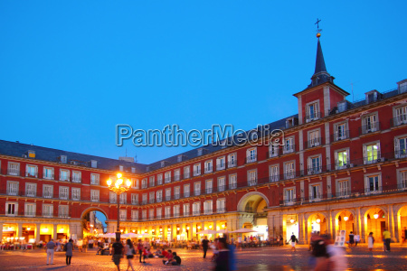 madrid plaza mayor typical square in