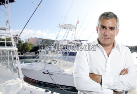 captain fisherman boat senior expertise deep