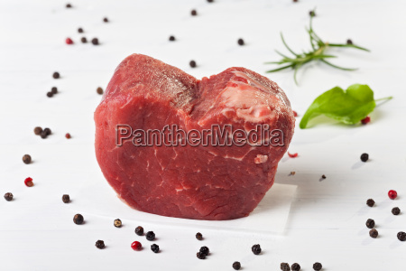 raw piece of beef sirloin on