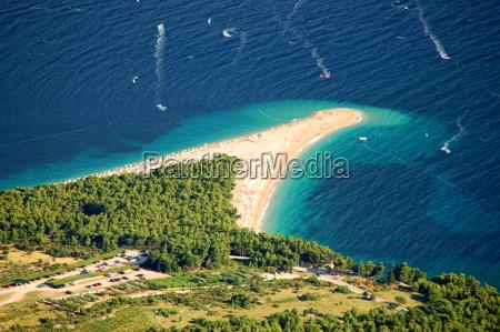 golden cape on brac island croatia