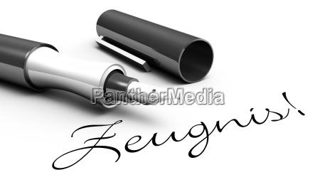 testimony pen concept