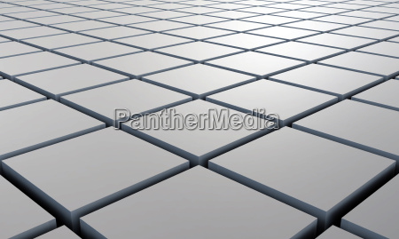 3d structure gray square