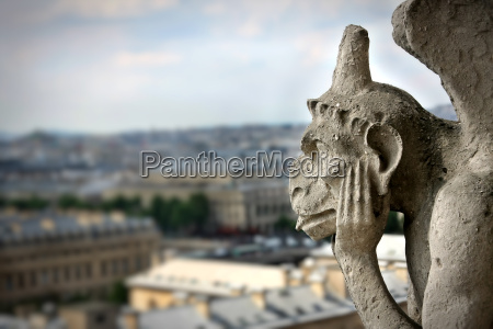 chimera on notre dame cathedral