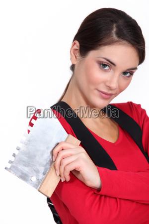 woman plasterer