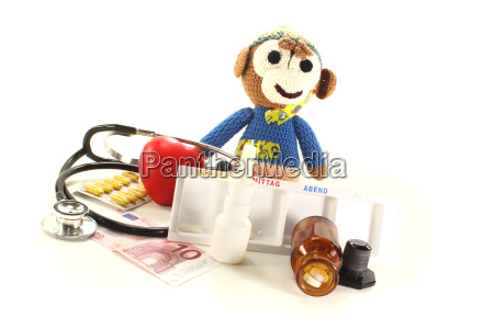 pediatrician with monkey and stethoscope