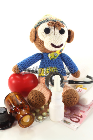 pediatrician with crocheted monkey