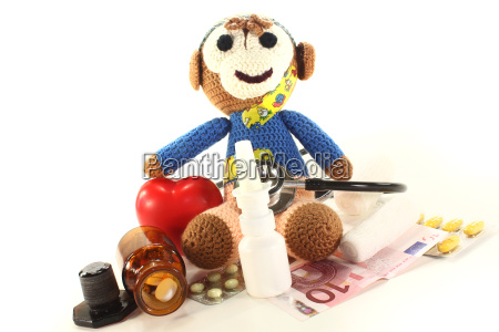 pediatrician with themselves crocheted monkey