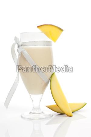 mango smoothie isolated