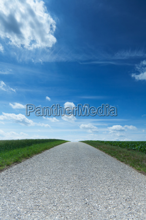 country road with horizon
