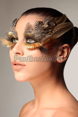decorative feather make up like the