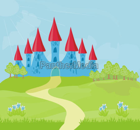 magic fairytale princess castle