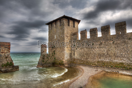 old walls of ancient castle on