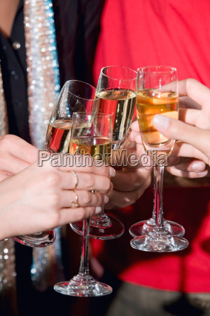 toast with champagne